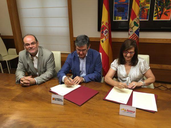 Gobierno de Aragón y FAMCP firman un convenio para la asistencia técnica en proyectos europeos