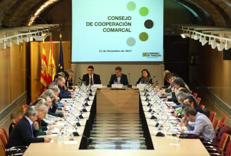 El Gobierno de Aragón mantendrá en 2018 el esfuerzo presupuestario para las comarcas con 63 millones de euros