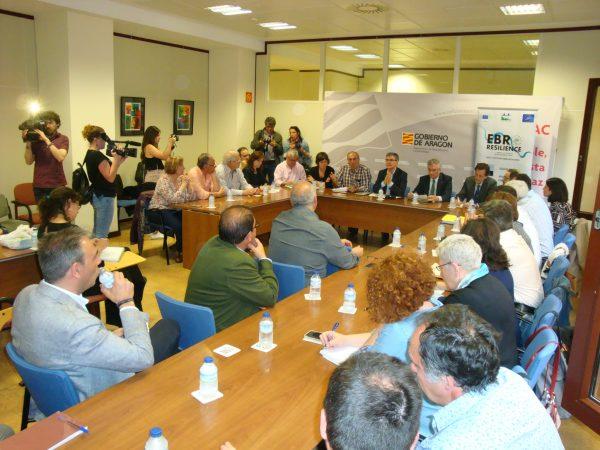 Unidad institucional para reducir los daños de las crecidas del Ebro