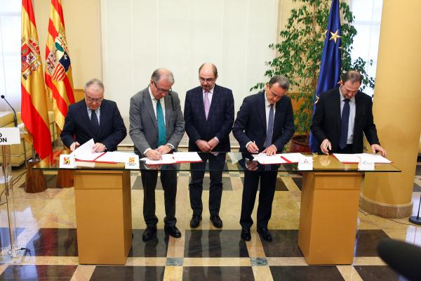 La DGA y las diputaciones provinciales, juntas en la gestión de fondos de la UE