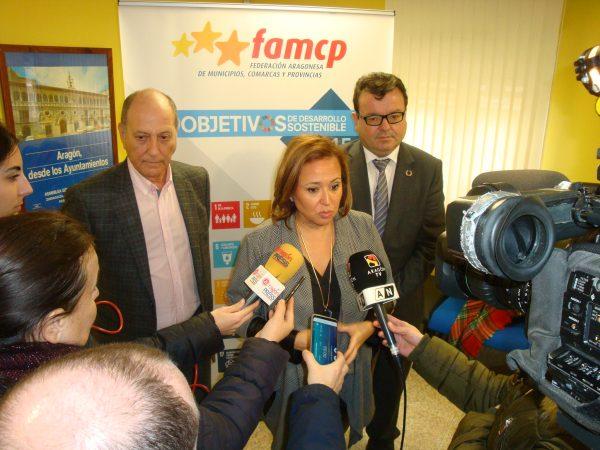 Pérez traslada a la FAMCP las principales líneas del Fondo Aragonés de Financiación Municipal