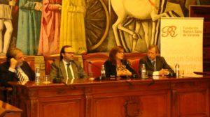 Desde la izquierda, Antonio Embid, Fernando Sáinz de Varanda, Carmen Sánchez y Francisco Martínez.