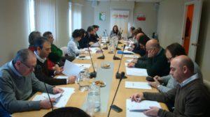 La Comisión Ejecutiva, en la reunión del 10 de febrero.
