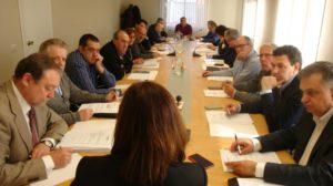 La Comisión Ejecutiva, en la reunión del 6 de abril.