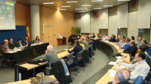 La reunión sobre las afecciones del Ebro se celebró en la sala de juntas de la CHE.